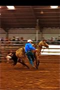 Freddy Vest on Goose, Clif Cooper's Horse
