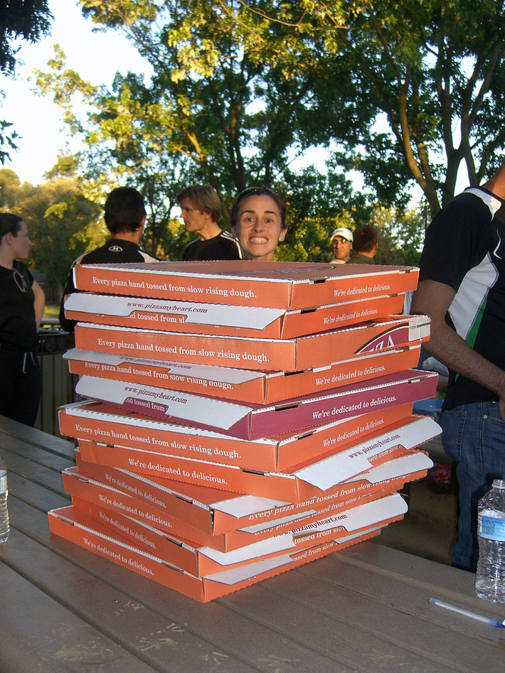 PARC Post Run Pizza in Peers Park