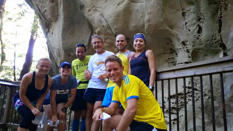 August Monthly Trail Run at the Sandstone Formation