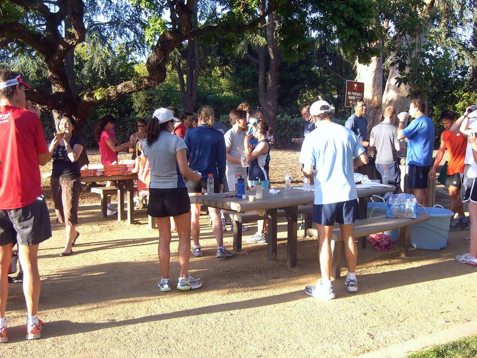 PARC Post Run Pizza in Peers Park