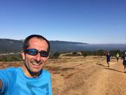 Emanuel's selfie at the crest - August Trail Run
