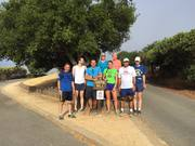 Group photo at Foothill Park vista point with many miles still to go - August Trail Run