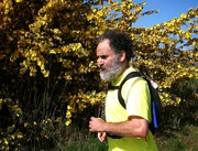 Peter nearing the end of the run.