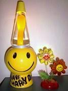 Smiley face lava lamps