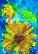 Mixed media sunflowers free class