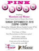 Pink Bingo Fundraiser Kick off BC Awareness Month