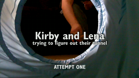 Kirby and Lena trying to figure out their tunnel.