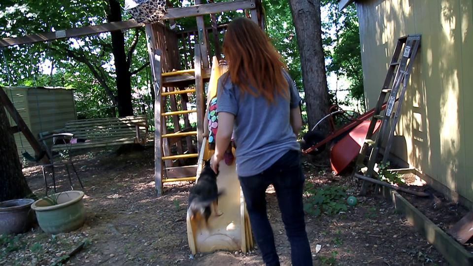 Luthien Plays On The Slide!