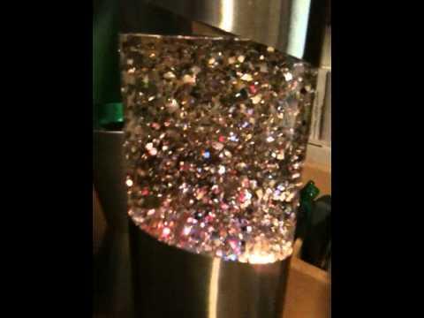 Vintage French glitter lamp