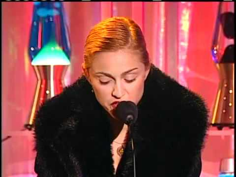 Madonna accepts for David Bowie's Rock & Roll Hall of Fame Induction (1996)