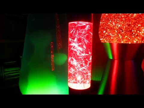 Custom Cut Tinsel Glitter Lamp 2