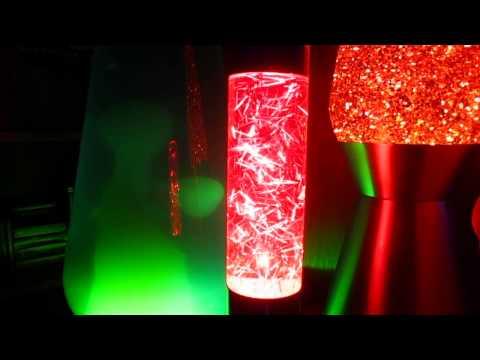 Custom Cut Tinsel Glitter Lamp 2