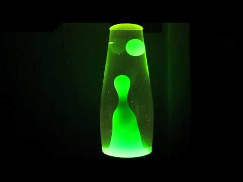 Lava Lamps Part 4: Mathmos Telstar Clear/Green at Nighttime