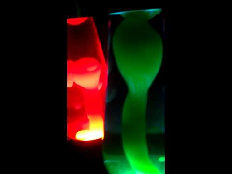 """2 27"""" Grande Lava Lamps (blue/grn and yellow/purp)"""