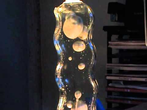 Homemade metallic lava lamp _wavey bottle.MPG