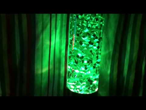 Custom Green Living Jewel In Jet Lamp