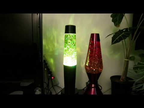 Hot Rock lava lamp converted to glitter