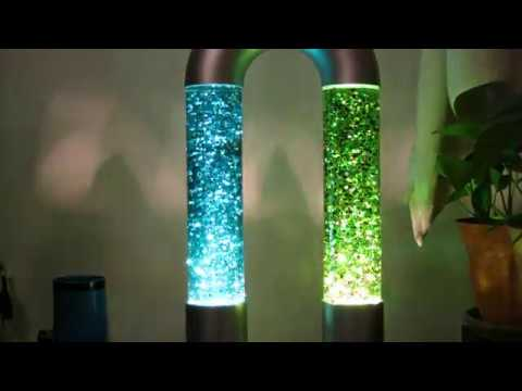 Link'd Lamp Double Glitter Bottles