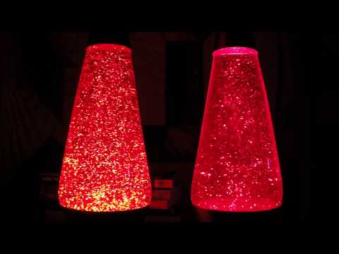 Fast vs. Slow glitter in a Lava Lite glitter lamp