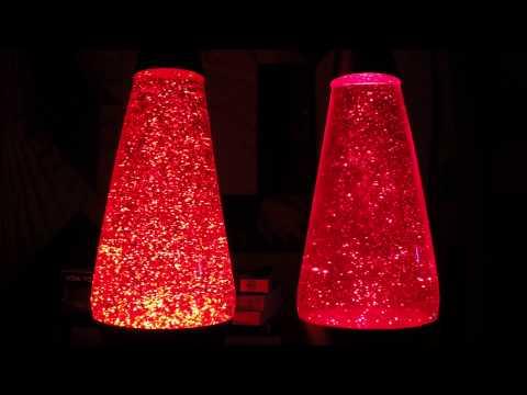 Fast vs. Slow glitter in a Lava Lite glitter lamp