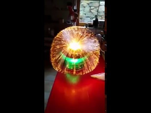 Fibre optic lamp spray with 10000 threads