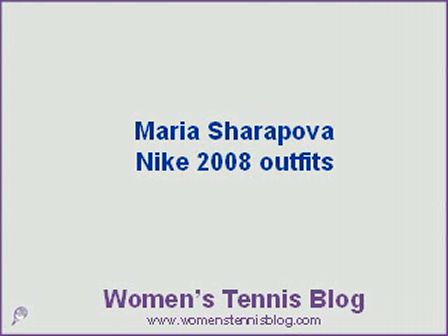 All Maria Sharapova's Nike outfits for 2008