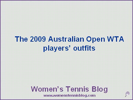 Women's fashions on the 2009 Australian Open courts