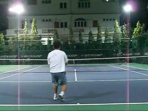 Practice Singles:  Pete (#1 50's Thailand) vs Mr. G
