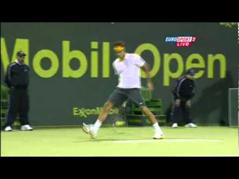 Roger Federer between the legs shot NEW!