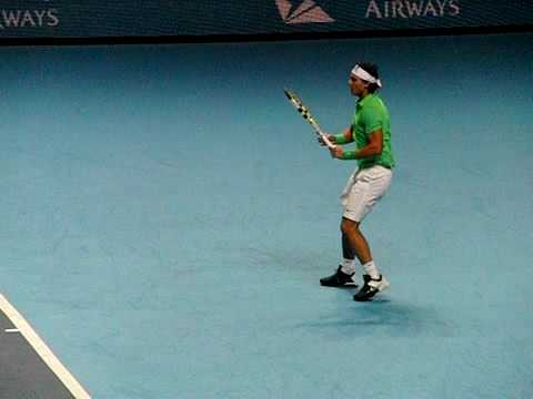 Nadal super slow mo forehand