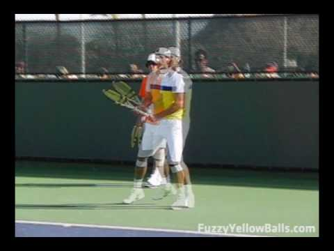 Rafael Nadal's Forehand from the Front in Slow Motion