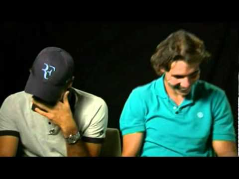 Federer and Nadal: Fit of Laughter During Shooting