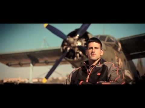 Novak Djokovic recreates classic tennis on wings of flying plane