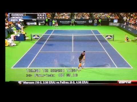 Great stretching - Djokovic vs Monfils