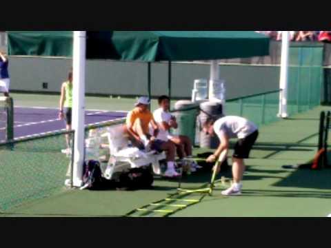 Rafael Nadal practice - BNP Paribas Open 2010 - Thursday 18