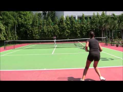 www.thaitennisvideo.com Tournament im vs russian girl first round pt 3