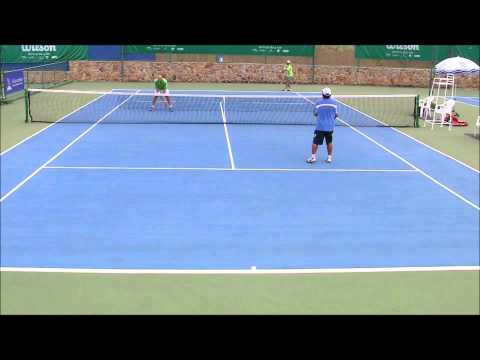 Pattaya InterCity doubles:  Semifinals Doubles Men's 40s Dan/Nat vs G/Bot Dec 2011