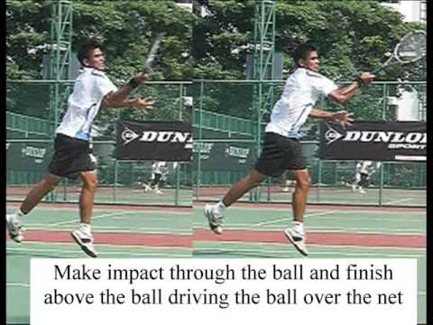 How to hit the Swinging Forehand Volley