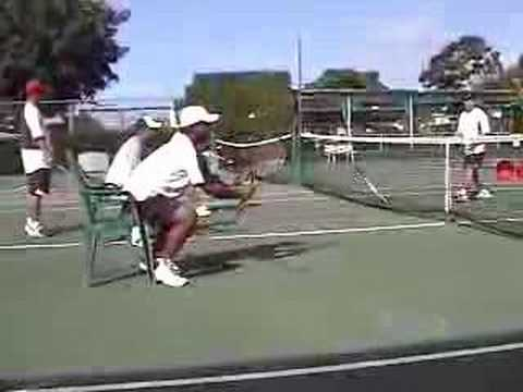 Tennis Drills:  Volleys--the Chair Drill