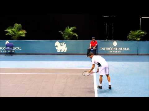Thailand Open:  Slow Motion Forehand and Serves