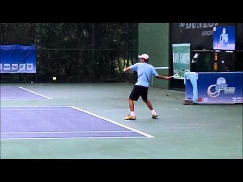 Super SLow Motion Forehand:  Thailand Rising Star Krittin Koaykul