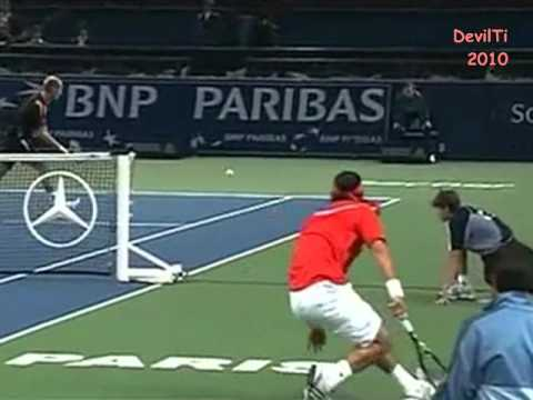 Tennis - 11 around the net shots (none by Federer)