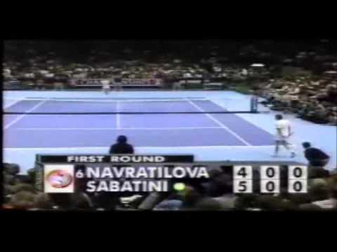 Sabatini vs Navratilova Masters 1994 (5/13)
