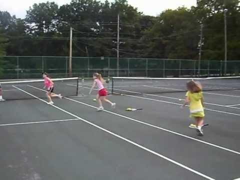 Tennis Drills for Kids - Pyramid Suicide Drill