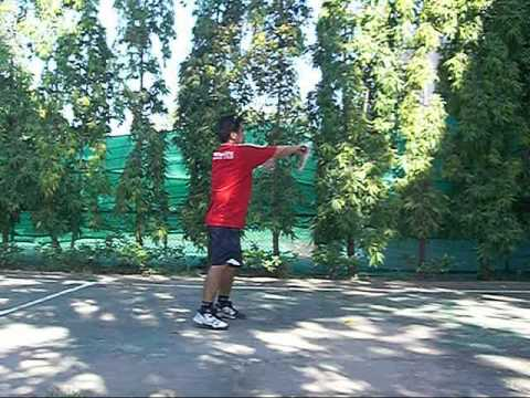 Tennis Lesson:  Forehand Pronation Step 2