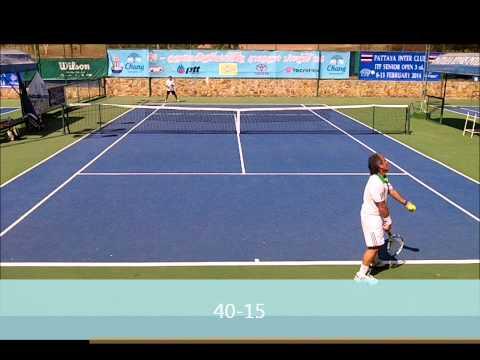 ITF Grade 4:  Mens 45 G vs #2 Seed Malik