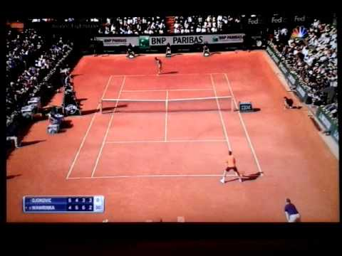 Djokovic-Wawrinka VERY STRANGE phase of game! Roland Garros 2015