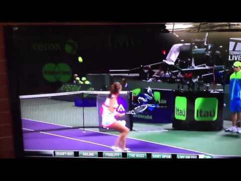 Shot of the year -- A. Radwanska v. Flipkens