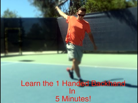 The FUN way to learn a 1 Handed Backhand in 5 minutes :)