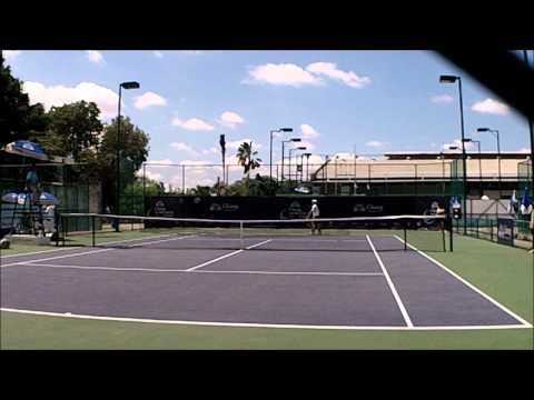itf futures match--with a crazy shot at the end